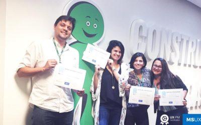 Profissionais do Banco Cetelem recebem a Certificação UX-PM 1 em janeiro/2018