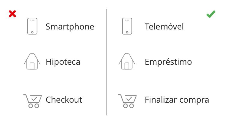 exemplo Linguagem simples no design de formulários