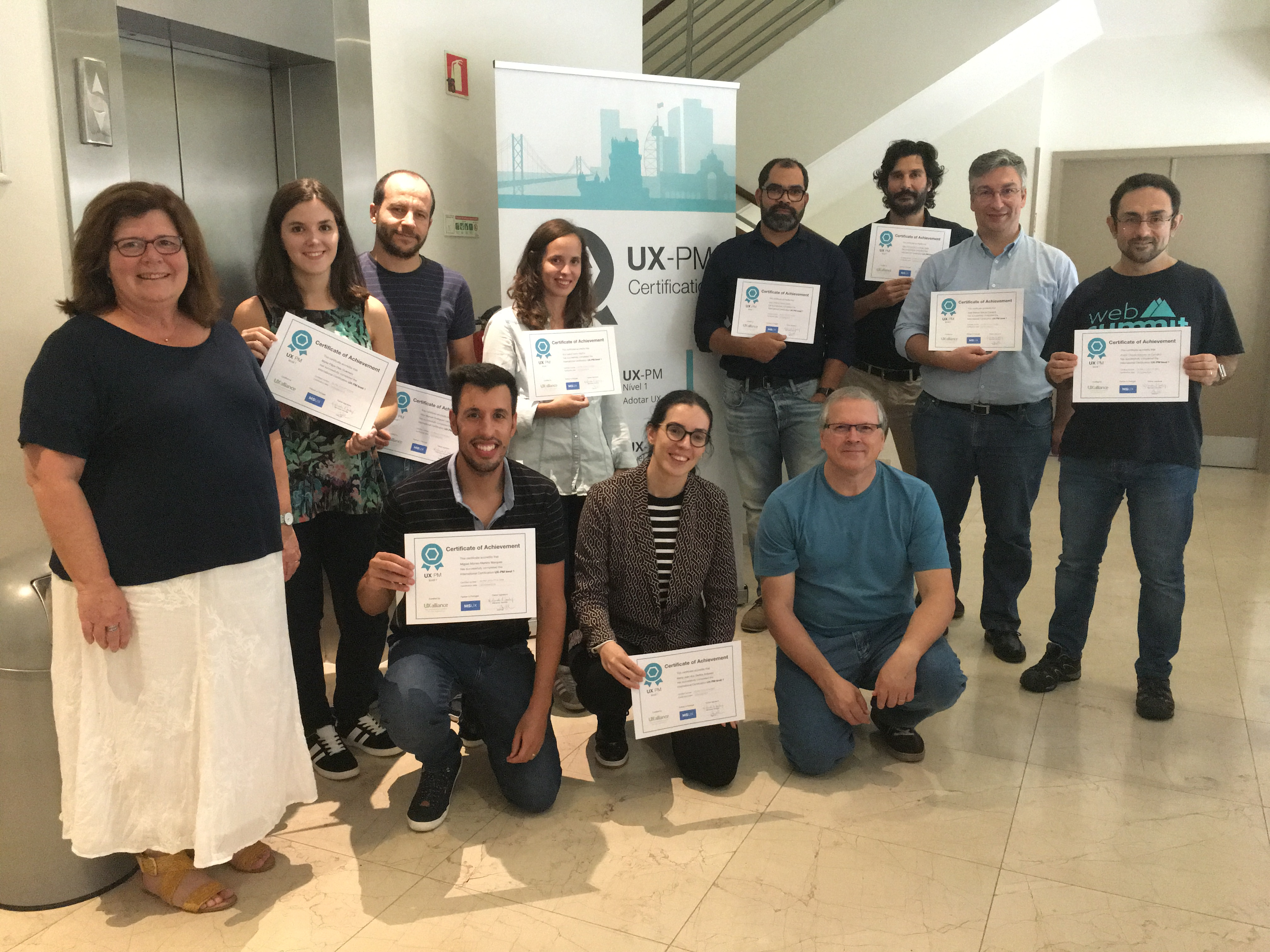 profissionais certificados UX-PM Portugal out 2018